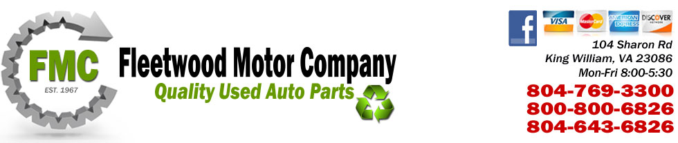 Used Auto & Truck Parts Sales in Richmond, VA